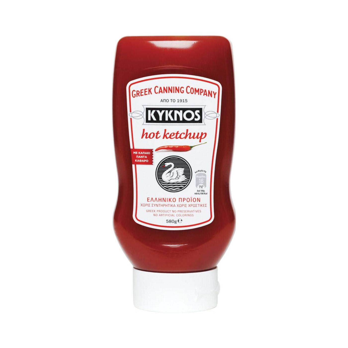 Фото - Кетчуп томатный KYKNOS острый 580 г кетчуп острый слобода живая еда 350 г