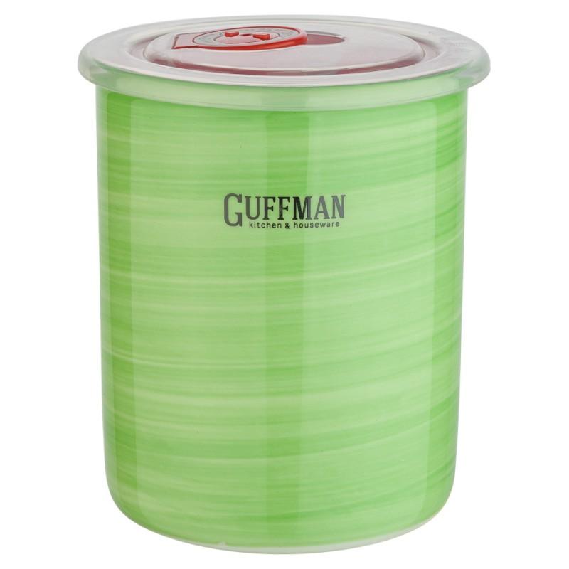 Купить Банка для сыпучих продуктов Guffman Ceramics 0, 6 л, Китай, зеленый, высококачественная керамика
