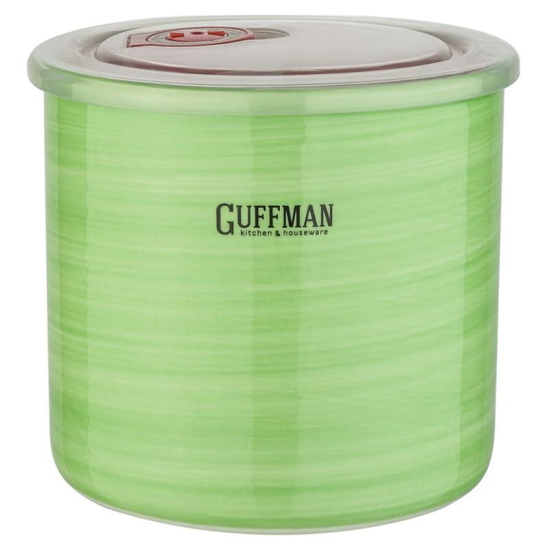 Купить Банка для сыпучих продуктов Guffman Ceramics 1 л, Китай, зеленый, высококачественная керамика