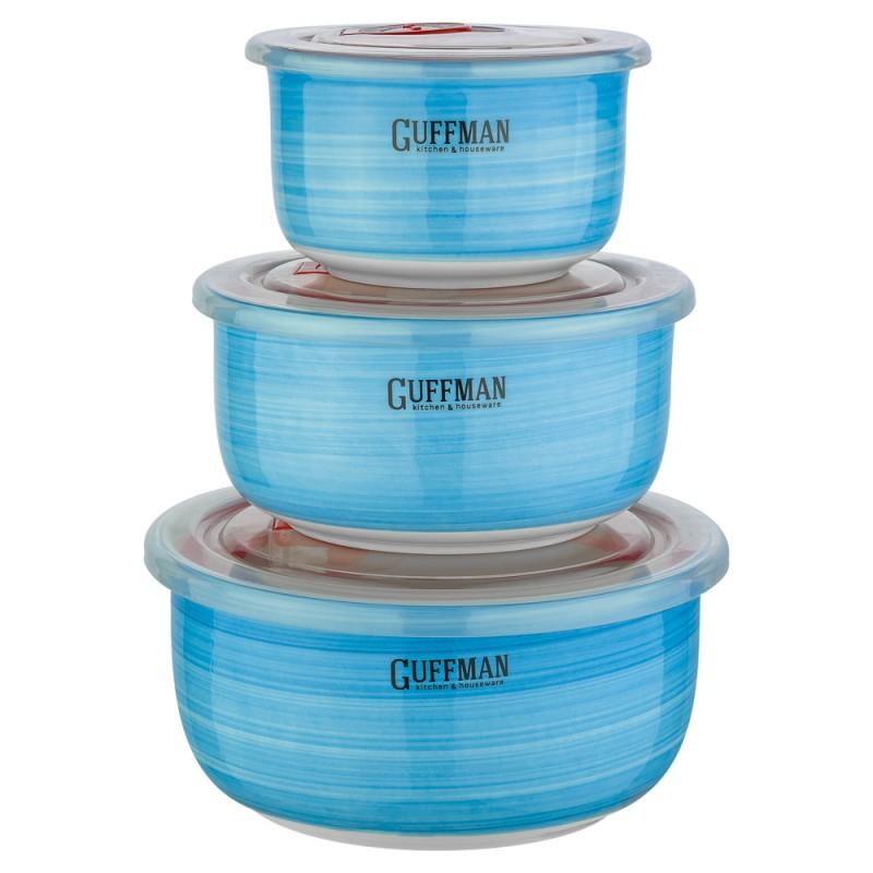 Купить Набор контейнеров Guffman Ceramics 3 шт, Китай, синий, высококачественная керамика
