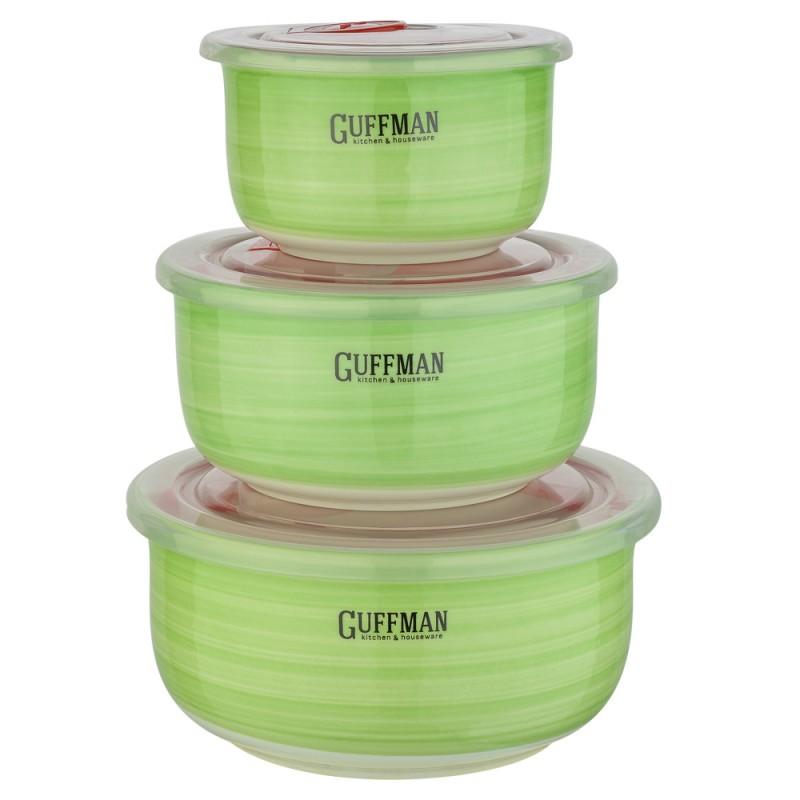 Купить Набор контейнеров Guffman Ceramics 3 шт, Китай, зеленый, высококачественная керамика