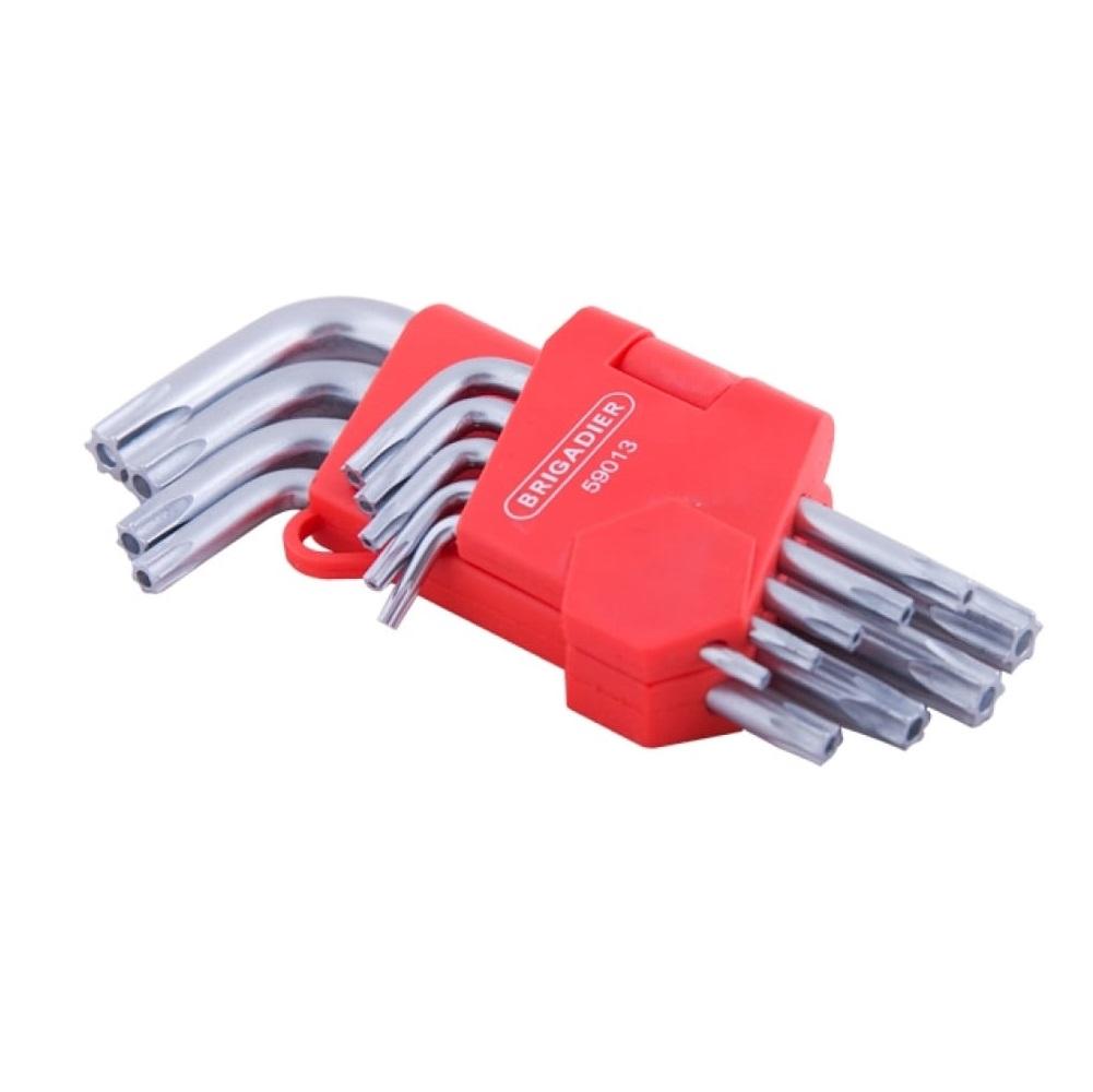 Набор ключей пятигранных Brigadier extrema ts 9шт перчатки рабочие противоскользящие brigadier extrema