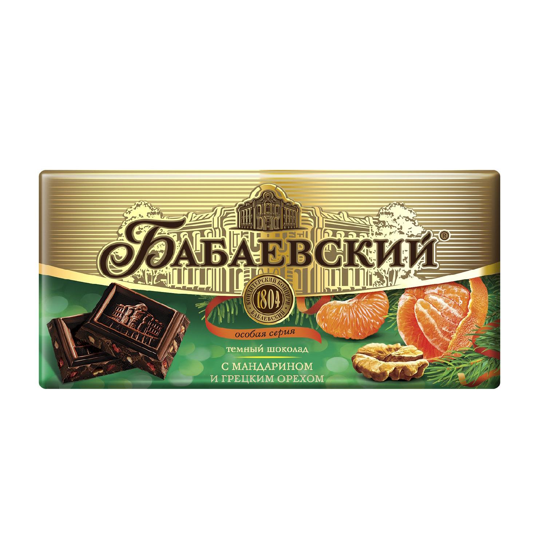 Шоколад Бабаевский с мандарином и грецким орехом 100 г халва летняя с грецким орехом и какао 400 г