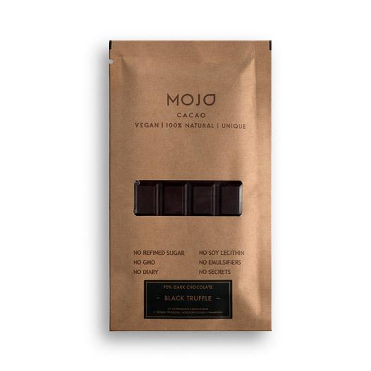 Шоколад горький Mojo cacao 70% С черным трюфелем, морской солью и тимьяном 80 г