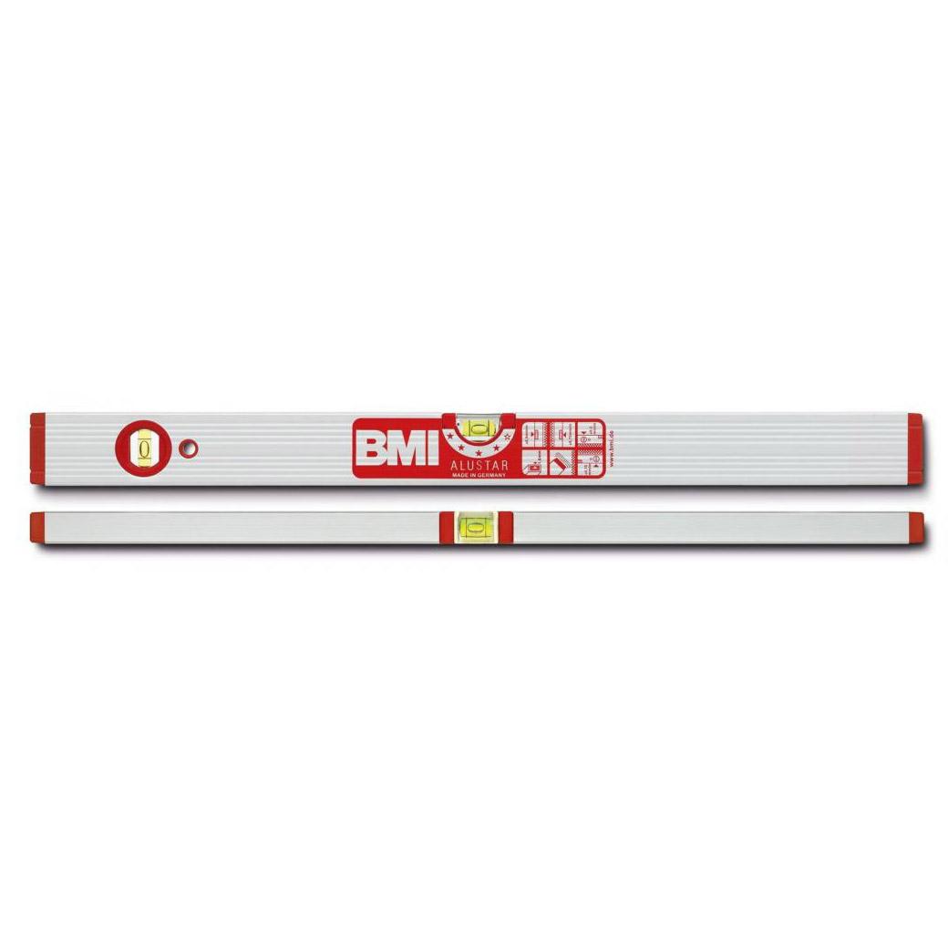 Уровень магнитный противоударный ALUSTAR 1000 мм BMI 691100M уровень строительный bmi противоударный 2 глазка alustar 600 мм 691060