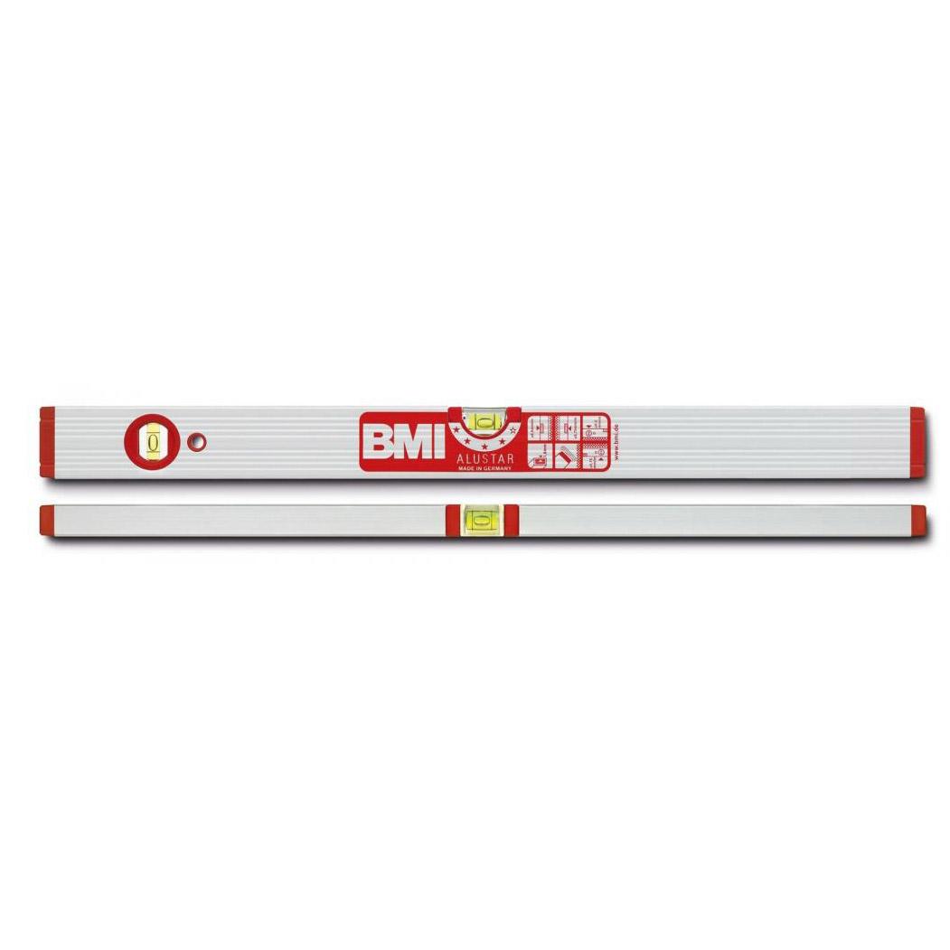 Уровень магнитный противоударный ALUSTAR 600 мм BMI 691060M уровень строительный bmi противоударный 2 глазка alustar 600 мм 691060