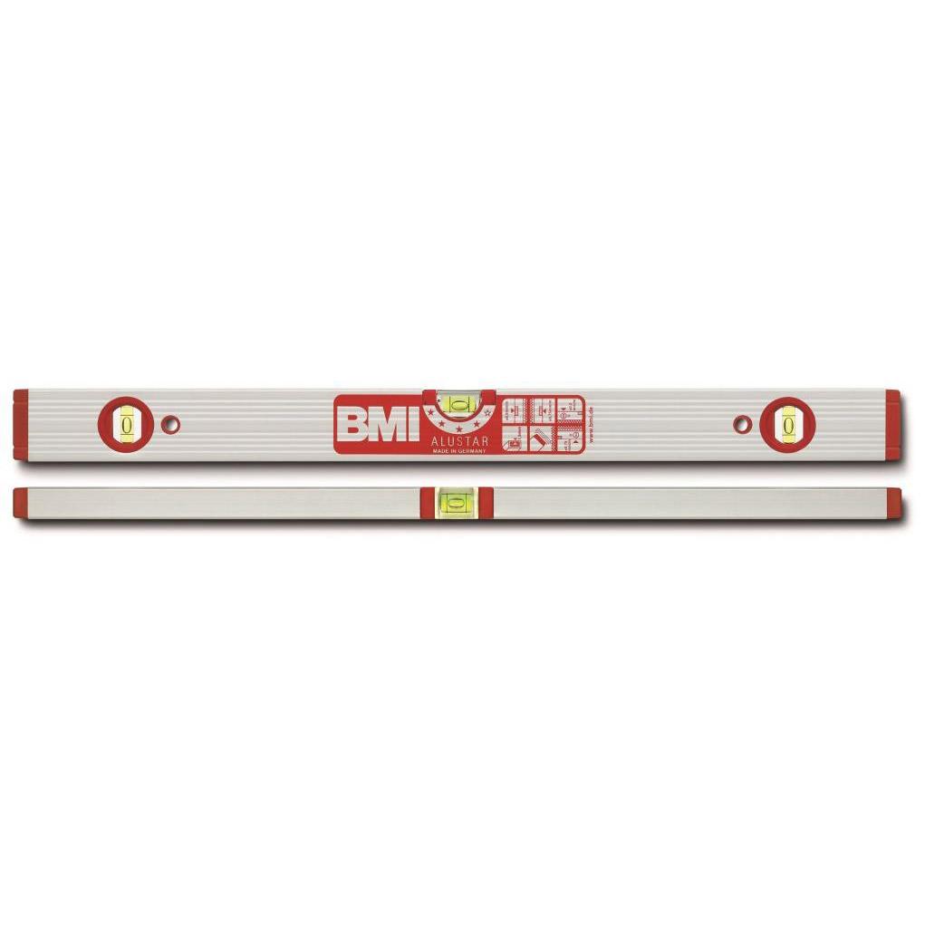 Уровень противоударный ALUSTAR 1500 мм BMI 691150S уровень строительный bmi противоударный 2 глазка alustar 600 мм 691060