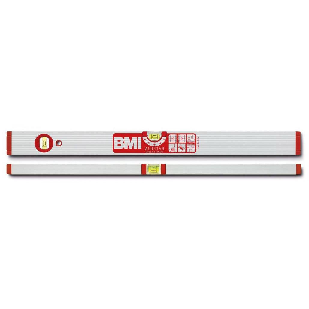 Уровень противоударный ALUSTAR 600 мм BMI 691060 уровень строительный bmi противоударный 2 глазка alustar 600 мм 691060