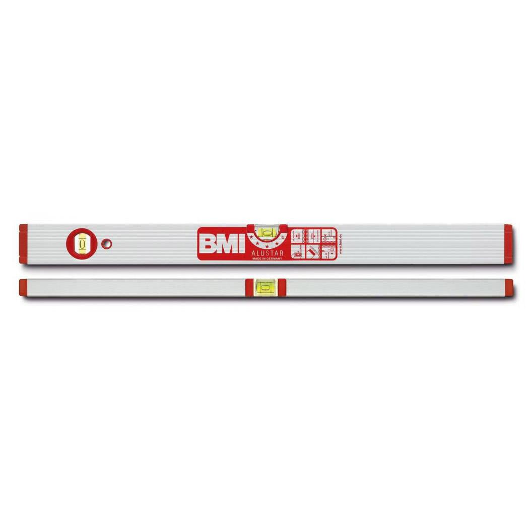 Уровень противоударный ALUSTAR 800 мм BMI 691080 уровень строительный bmi противоударный 2 глазка alustar 600 мм 691060