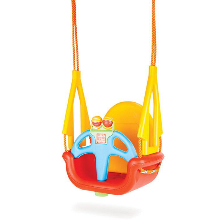 Качели подвесные Pilsan melody swing, (красный с желтой спинкой)