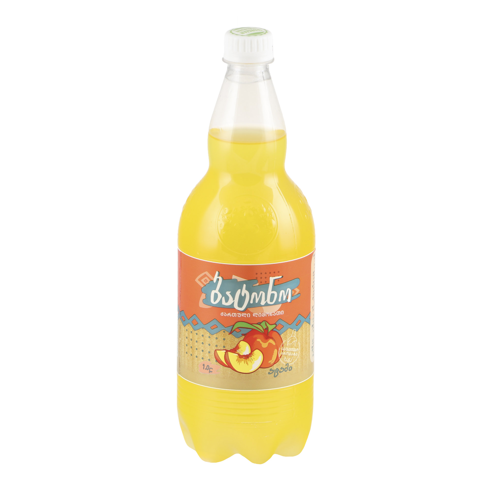 Напиток газированный Batono Персик 1 л напиток газированный 7 up лайм и мята 1 5 л
