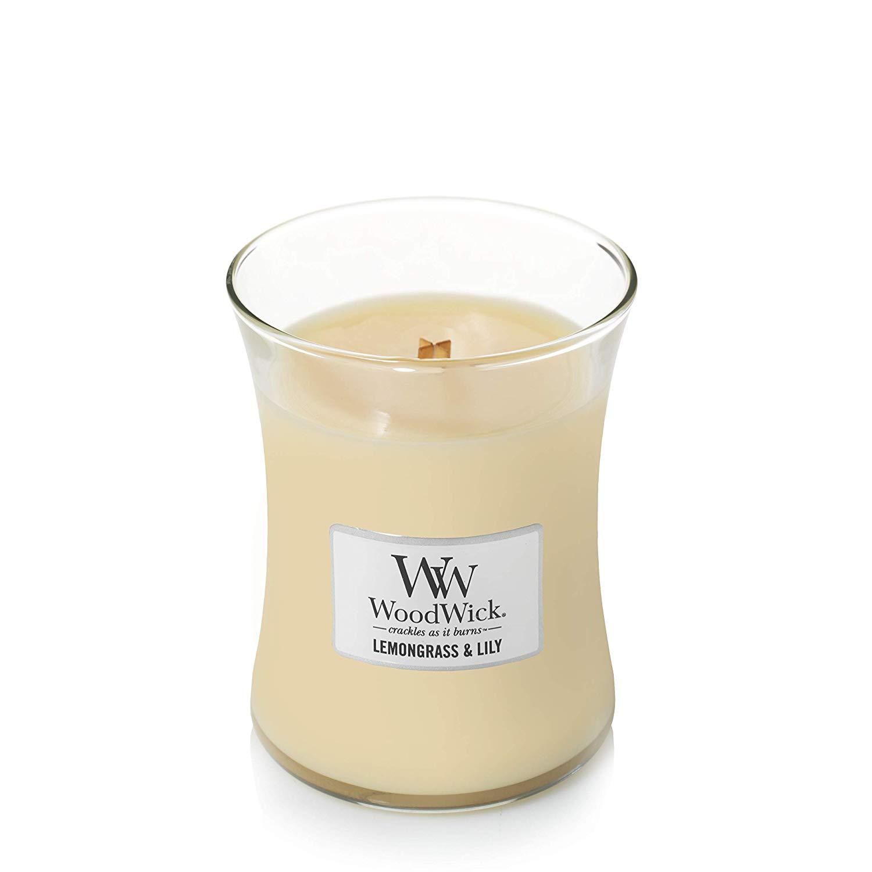 Аромасвеча WoodWick Лемонграсс и лилия 11 см аромасвеча woodwick песок и морское дерево 11 см