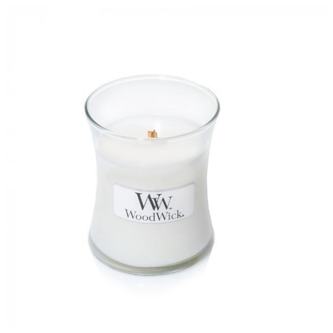 Аромасвеча WoodWick Белый чай и жасмин 8 см аромасвеча woodwick песок и морское дерево 11 см