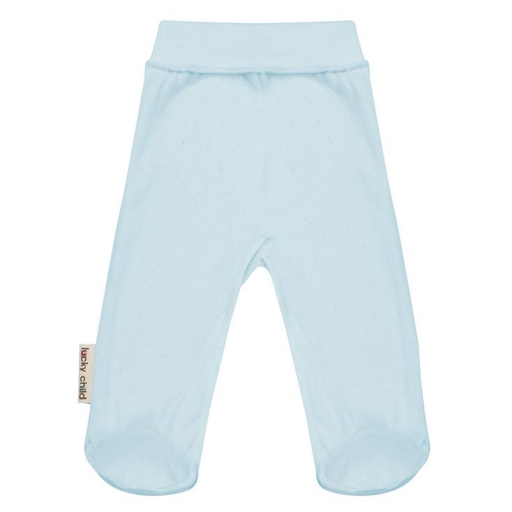 Фото - Ползунки Lucky Child Ажур голубые 74-80 футболка lucky child ажур белая 74 80