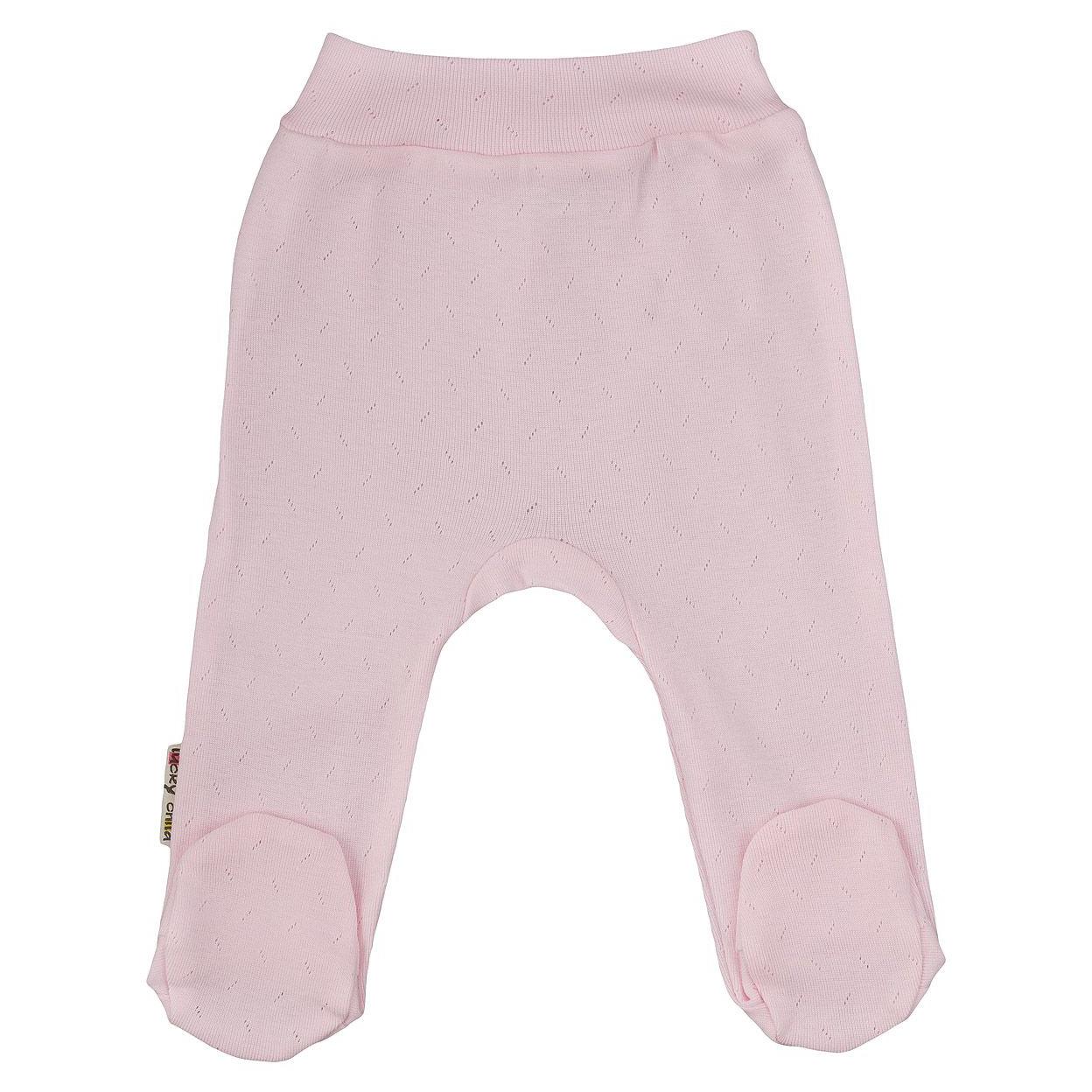 Фото - Ползунки Lucky Child Ажур розовые 74-80 футболка lucky child ажур белая 74 80