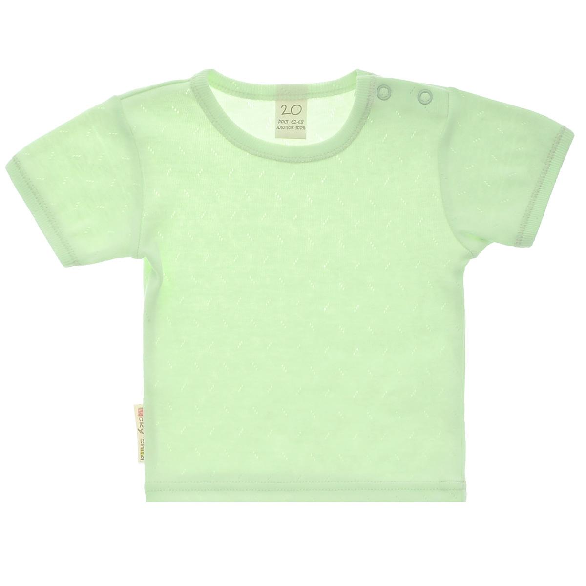 Фото - Футболка Lucky Child Ажур зеленая 74-80 футболка lucky child ажур белая 74 80