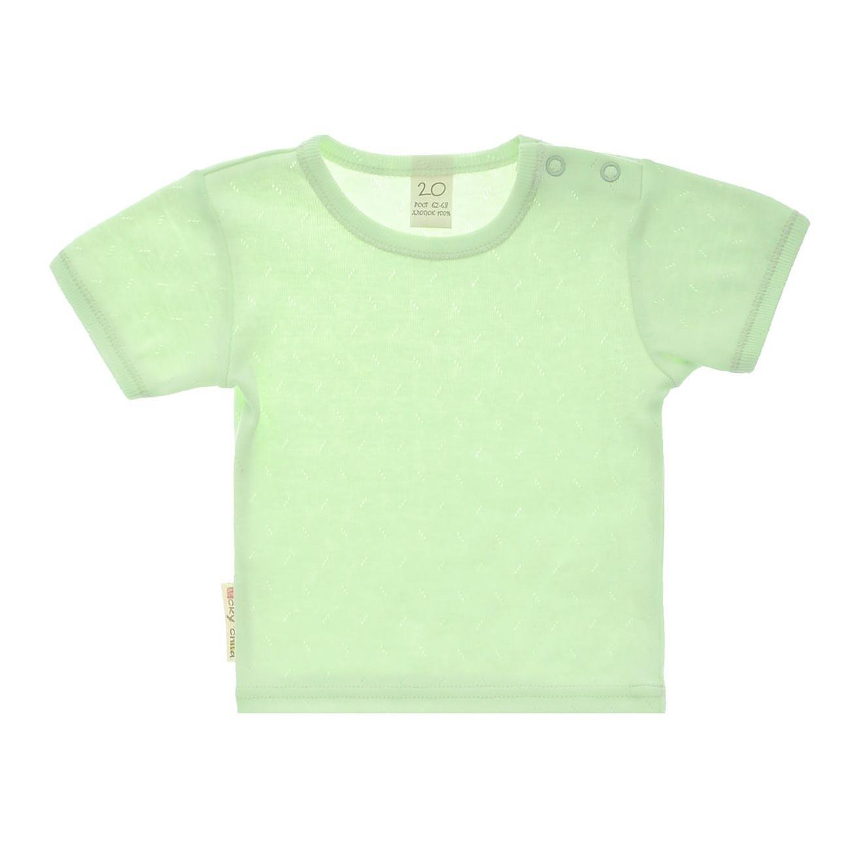 Купить Футболка Lucky Child Ажур зеленая 86-92, Зеленый, Рибана трансферная, Для детей, Весна-Лето,