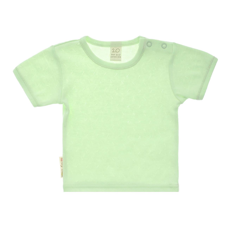 Купить Футболка Lucky Child Ажур зеленая 92-98, Зеленый, Рибана трансферная, Для детей, Весна-Лето,