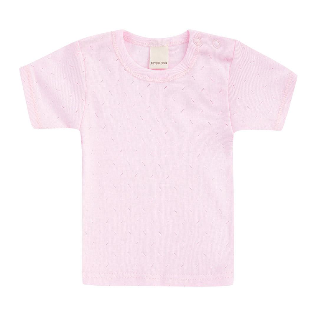 Купить Футболка Lucky Child Ажур розовая 98-104, Розовый, Для девочек, Лето,