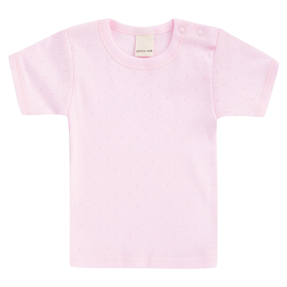 Купить Футболка Lucky Child Ажур розовая 86-92, Розовый, Рибана трансферная, Для девочек, Весна-Лето,