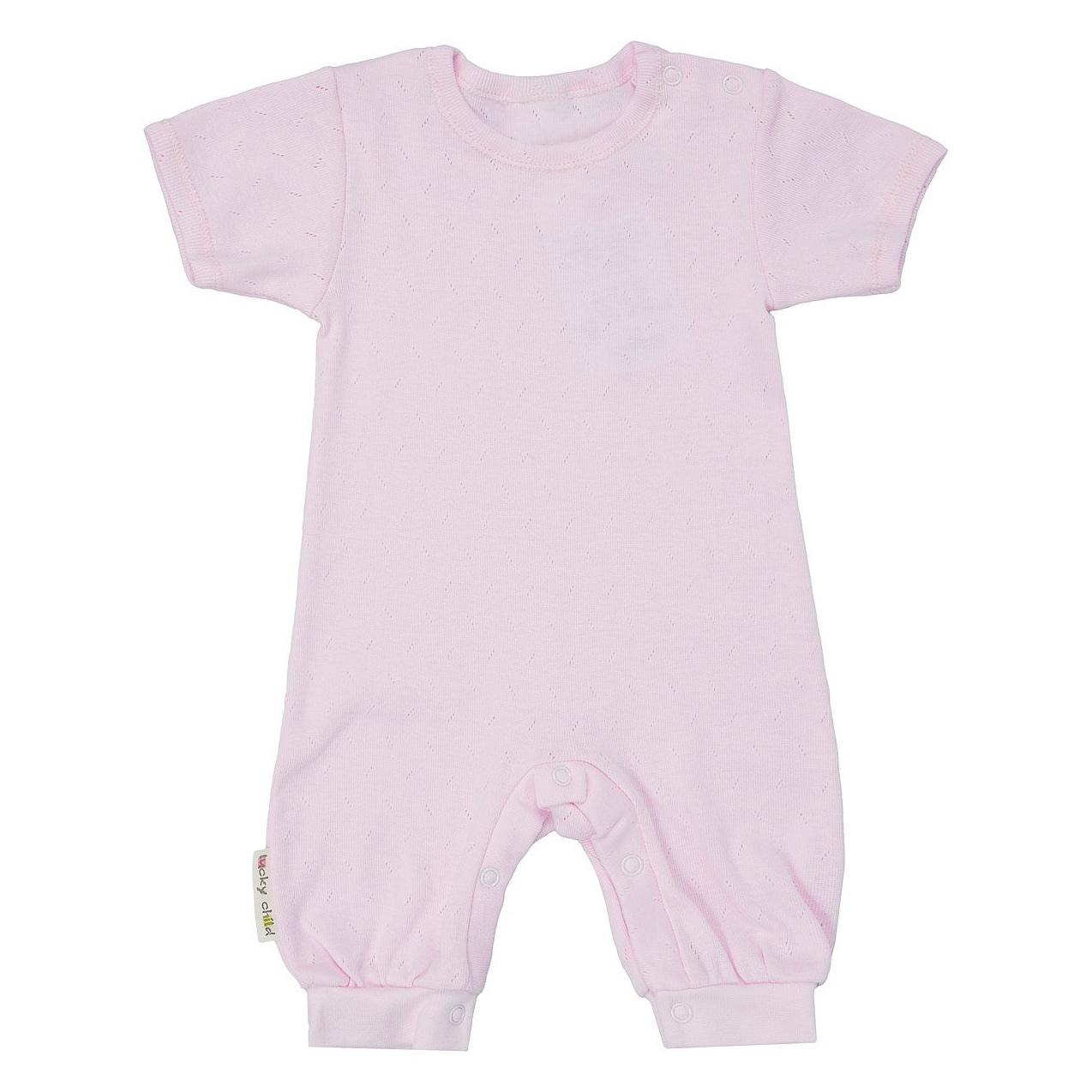 Фото - Песочник Lucky Child Ажур розовый 74-80 футболка lucky child ажур белая 74 80