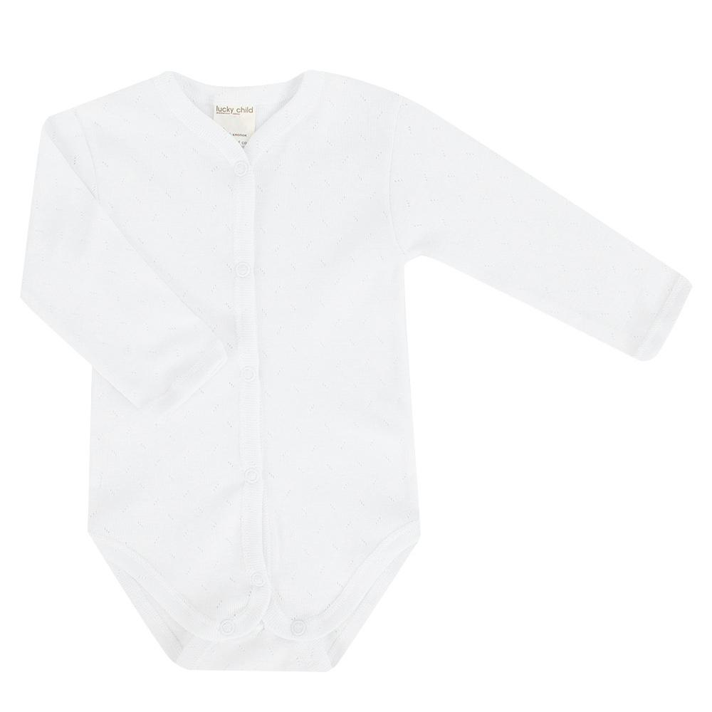 Фото - Боди Lucky Child Ажур белый 74-80 футболка lucky child ажур белая 74 80