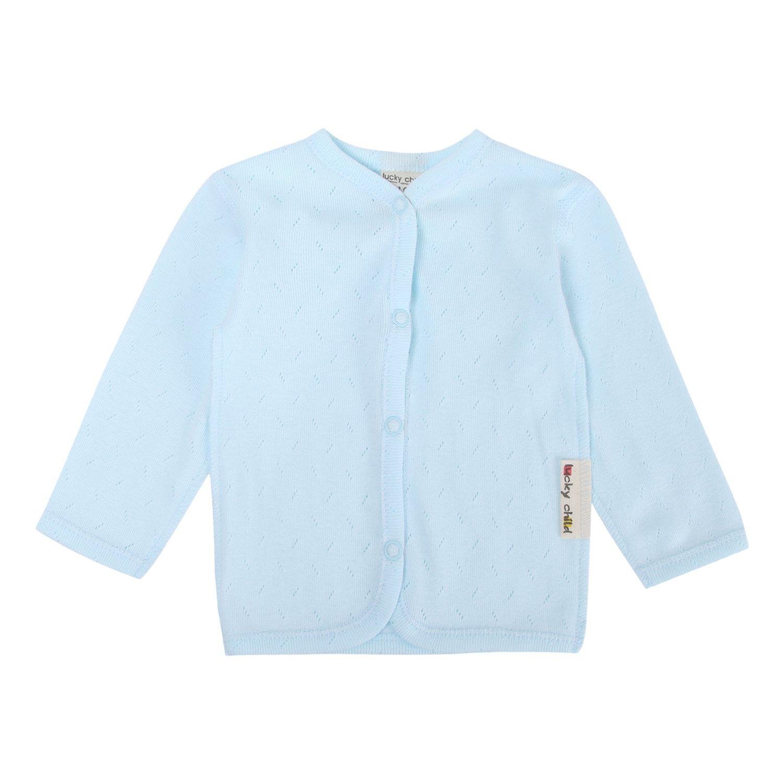 Фото - Кофта Lucky Child Ажур голубая 74-80 футболка lucky child ажур белая 74 80