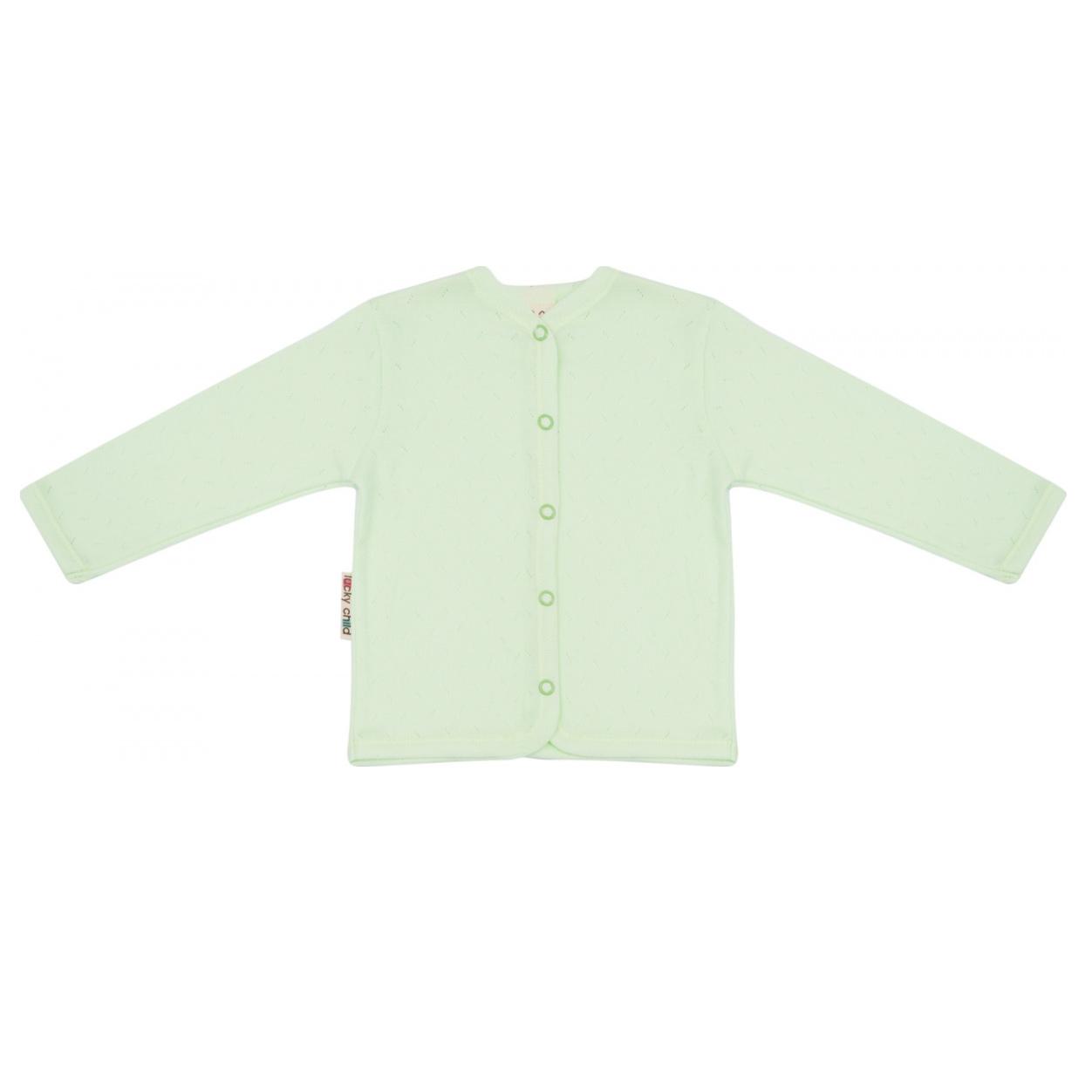 Фото - Кофта Lucky Child Ажур зеленая 74-80 футболка lucky child ажур белая 74 80