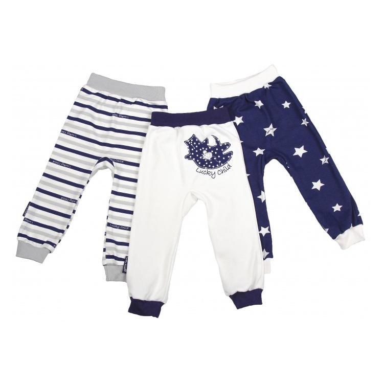Купить Комплект штанишек Lucky Child Котики 3 шт 86-92, Белый, Синий, Интерлок, Для детей, Всесезонный,