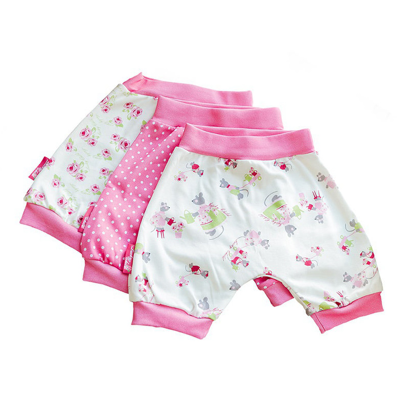 Купить Комплект шортов Lucky Child Маленькая садовница 3 шт 86-92, Розовый, Интерлок, Для девочек, Всесезонный,