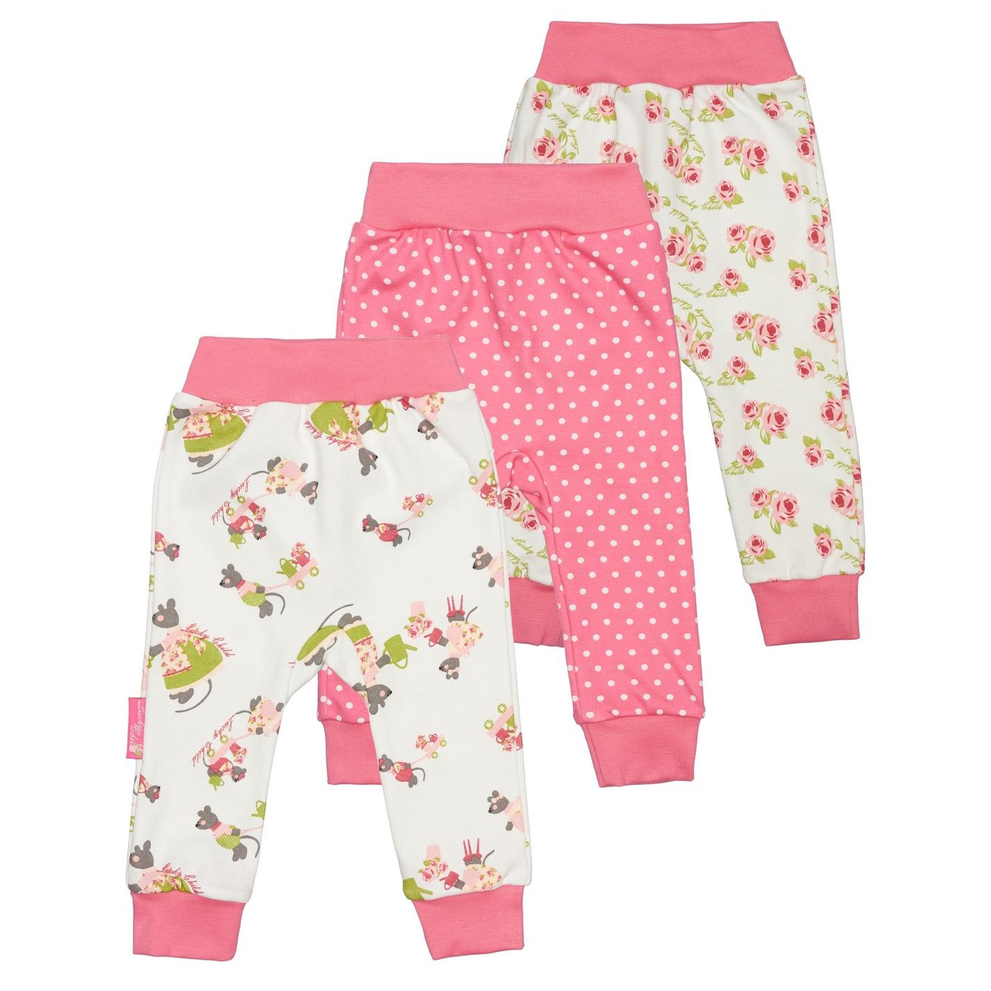 Комплект брюк Lucky Child Маленькая садовница 3 шт 80-86