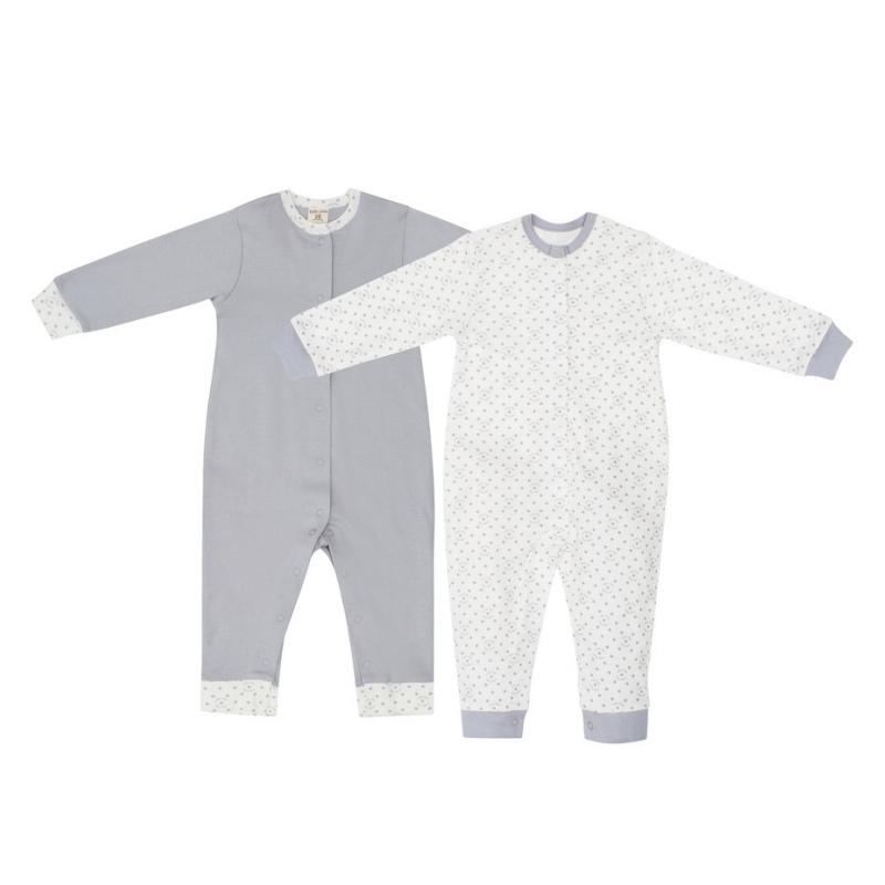 Купить Комплект комбинезонов Lucky Child Дуэт 2 шт для мальчика 74-80, Серый, Интерлок, Осень-Зима, Одежда для новорожденных