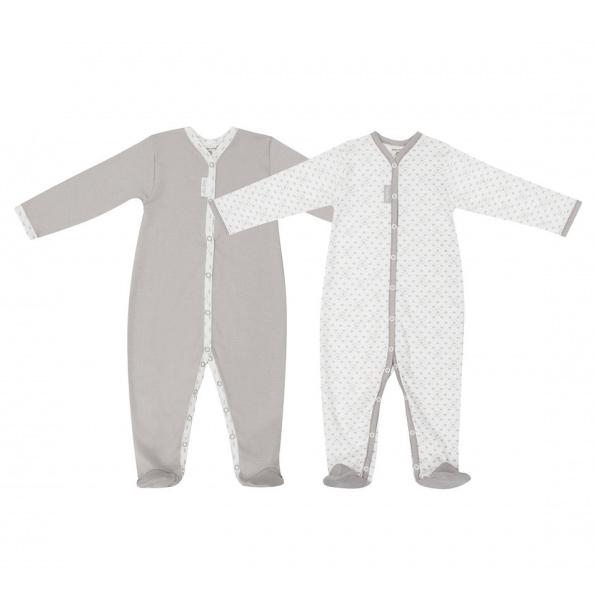 Купить Комплект комбинезонов Lucky Child Дуэт 2 шт для девочки 68-74, Бежевый, Интерлок, Осень-Зима, Одежда для новорожденных