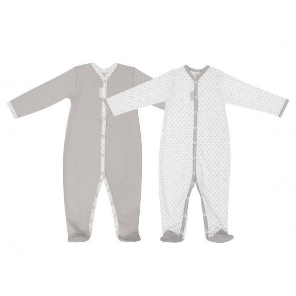 Купить Комплект комбинезонов Lucky Child Дуэт 2 шт для девочки 74-80, Бежевый, Интерлок, Осень-Зима, Одежда для новорожденных