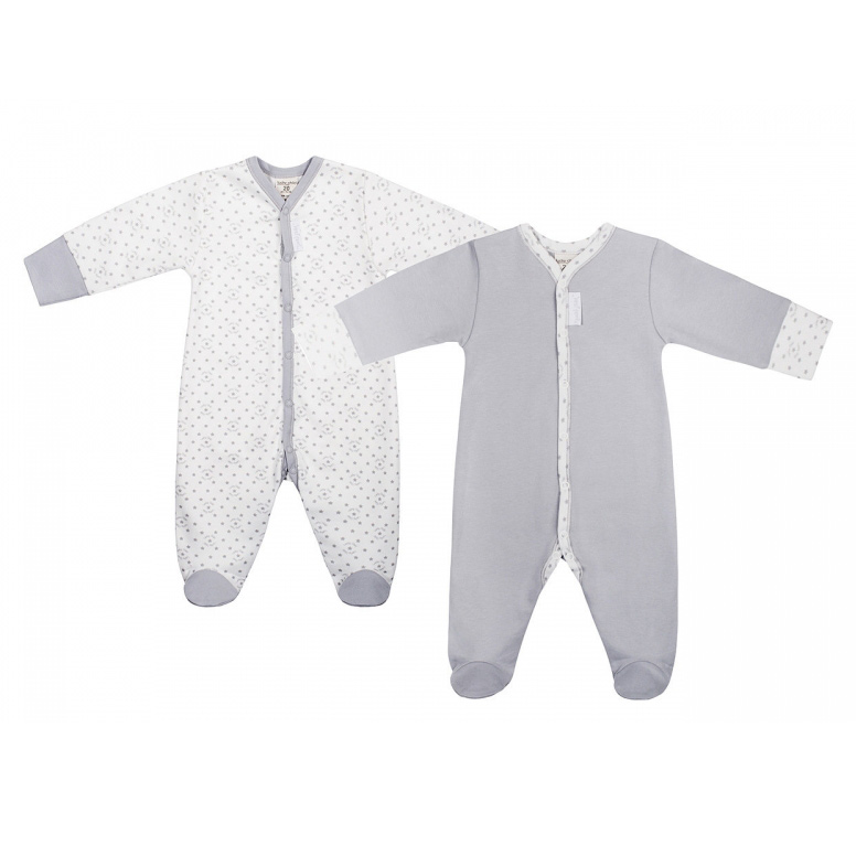 Купить Комплект комбинезонов Lucky Child Дуэт 2 шт для мальчика 68-74, Серый, Интерлок, Осень-Зима, Одежда для новорожденных