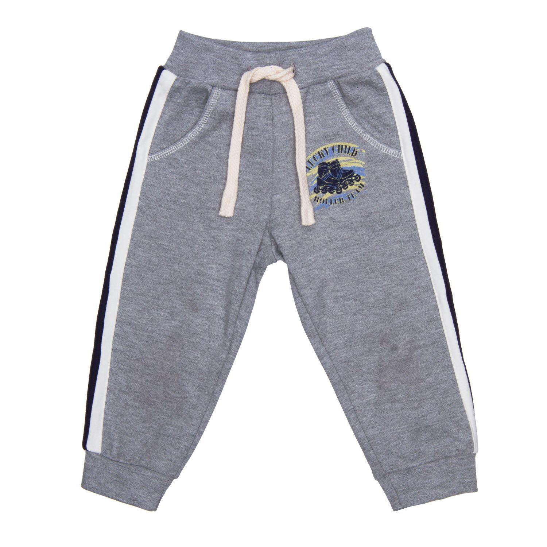 Купить Брюки Lucky Child Basic Sport серые 128-134, Серый, Футер, Для мальчиков, Всесезонный,