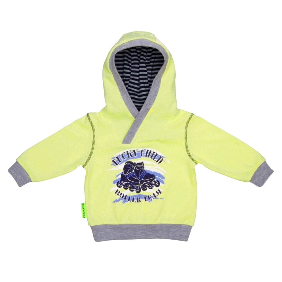 Фото - Толстовка Lucky Child Basic Sport жёлтая толстовка lucky child basic sport серая 92 98