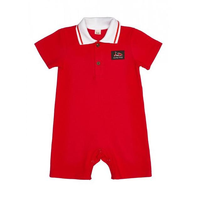 Купить Песочник Lucky Child Лемур в Париже красный 86-92, Красный, Пике, Для мальчиков, Весна-Лето,