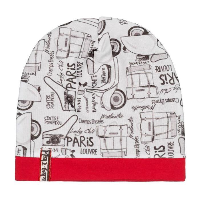 Шапка Lucky Child Лемур в Париже цветная 40