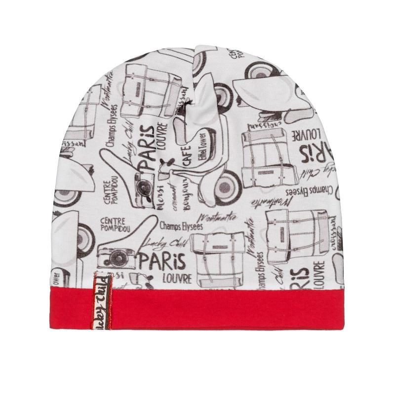 Шапка Lucky Child Лемур в Париже цветная 47