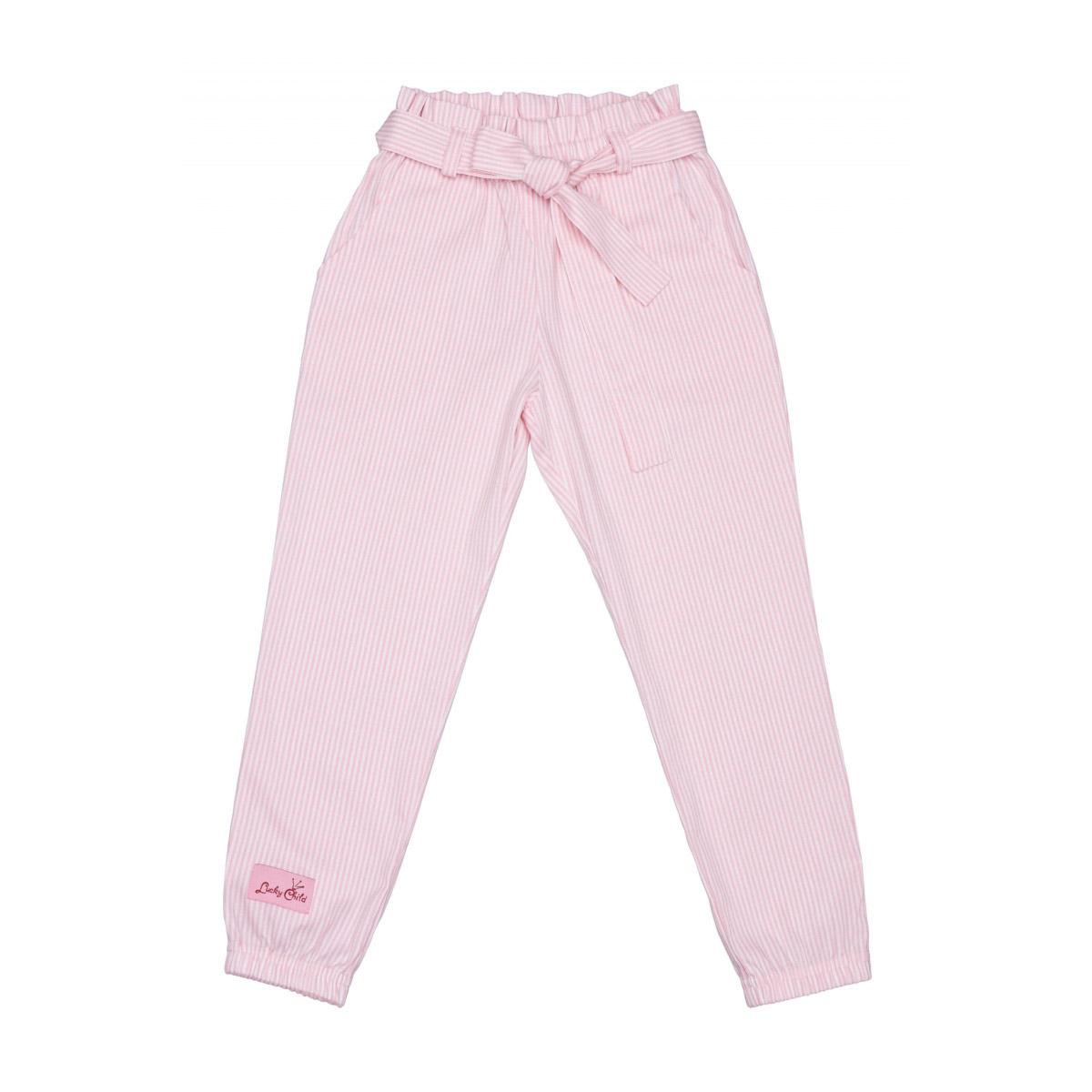 Купить БрюкиLucky Child Принцесса Сказки в полоску 104-110, Розовый, Поплин, Для девочек, Всесезонный,