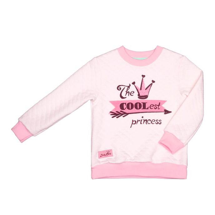 Купить Толстовка Lucky Child Принцесса Сказки 104-110, Розовый, Капитоний, Для девочек, Весна-Лето,