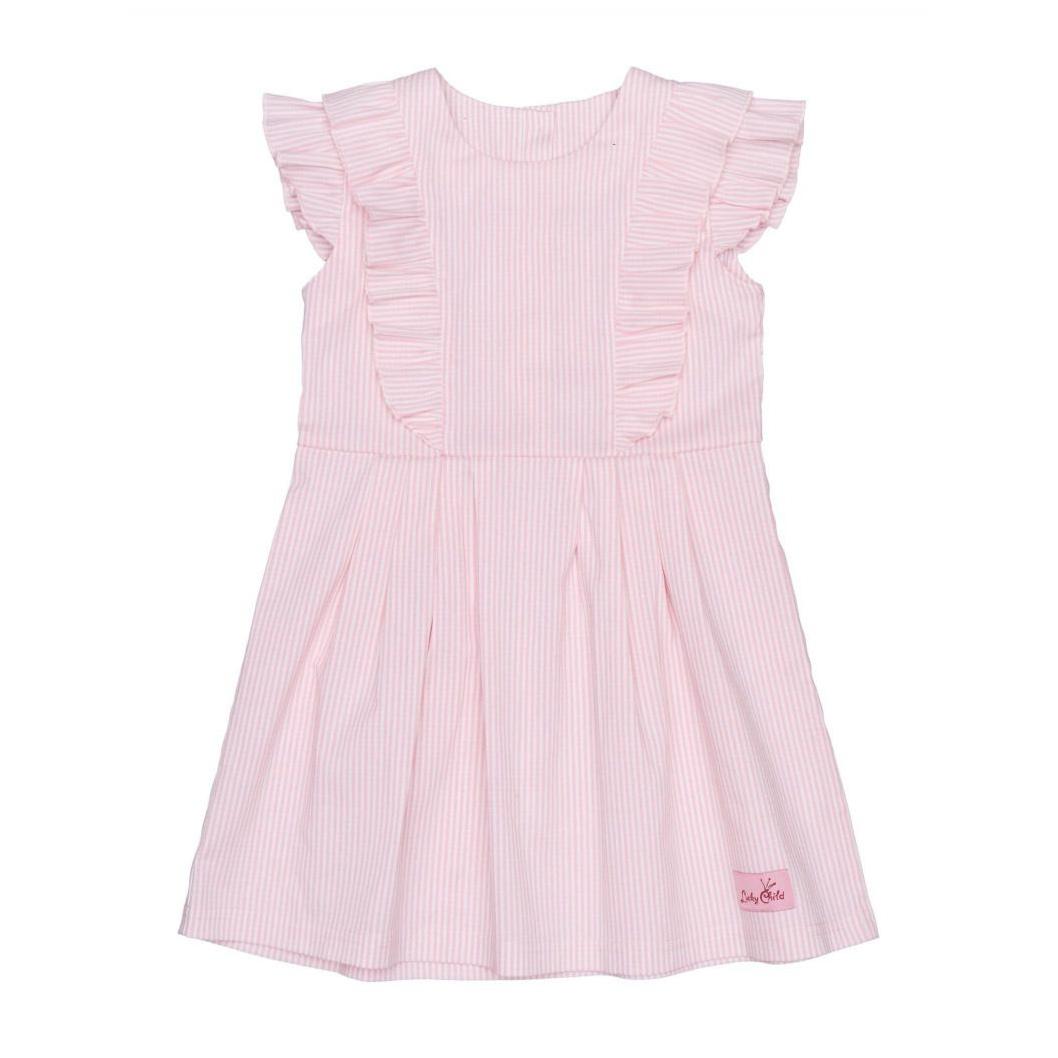 Купить Платье Lucky Child Принцесса Сказки в полоску 86-92, Розовый, Поплин, Для девочек, Весна-Лето,