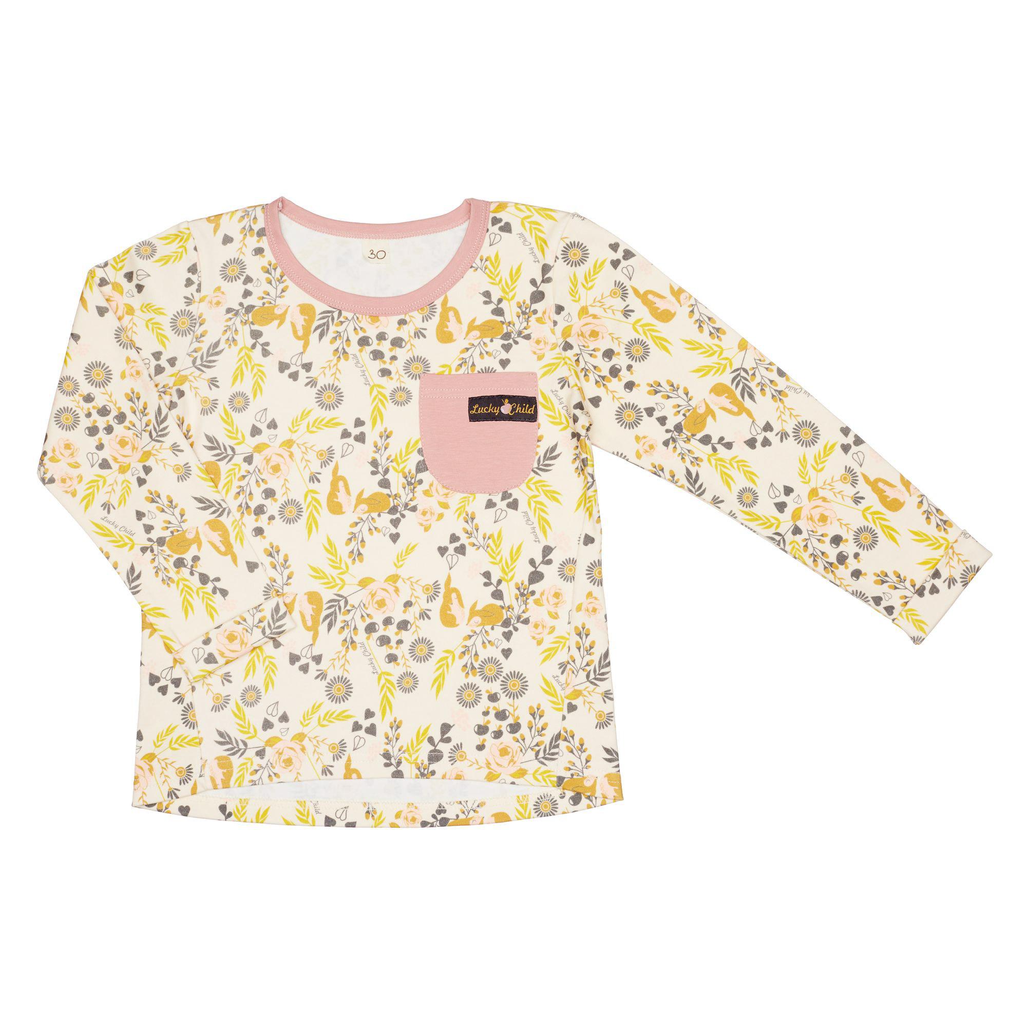 Купить Лонгслив Lucky Child Осенний лес цветной 116-122, Разноцветный, Кулирка, Для девочек, Осень-Зима,