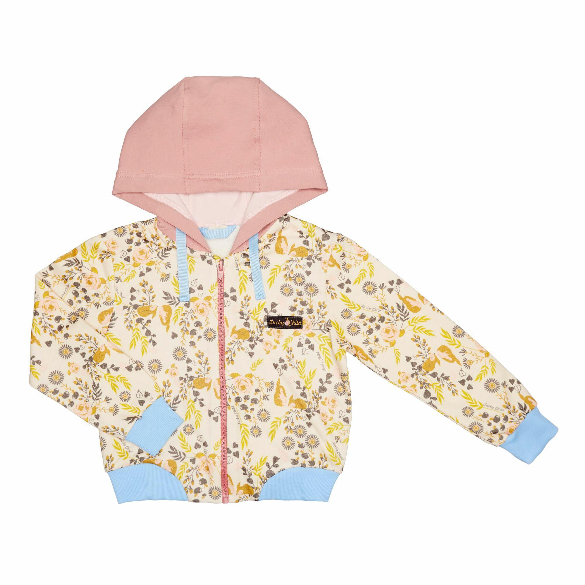 Купить Куртка на молнии Lucky Child Осенний лес 122-128, Разноцветный, Футер, Для девочек, Осень-Зима,