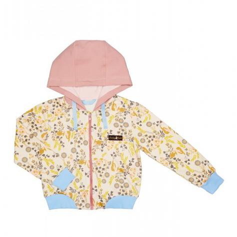 Купить Куртка Lucky Child на молнии Осенний лес 86-92, Разноцветный, Футер, Для девочек, Осень-Зима,