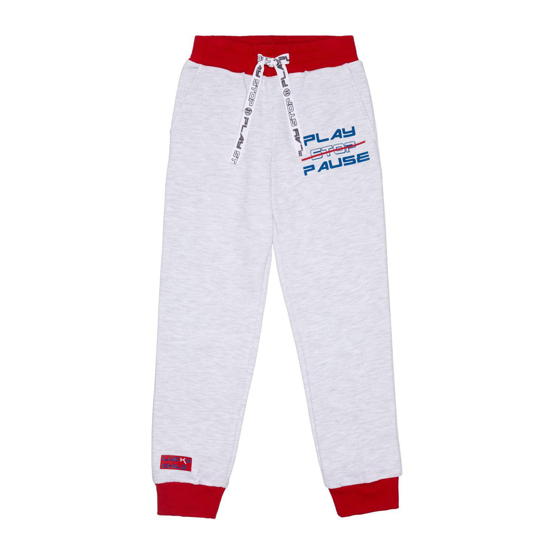 Купить Спортивные брюки Lucky Child Больше пространства серые 92-98, Серый, Футер с начесом, Для мальчиков, Осень-Зима,