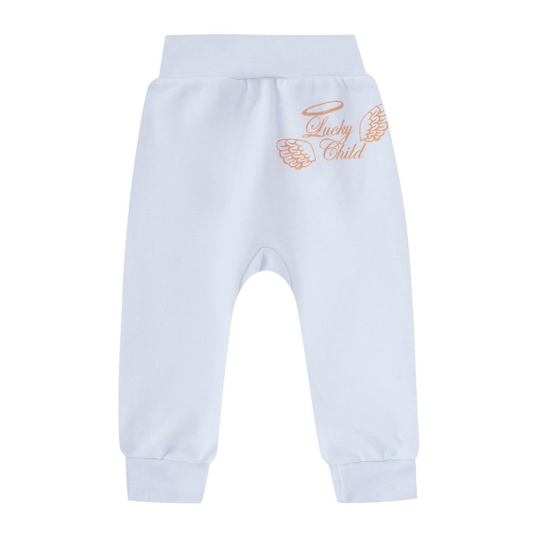 Купить Штанишки Lucky Child Ангелочки белые 62-68, Белый, Интерлок, Осень-Зима, Одежда для новорожденных