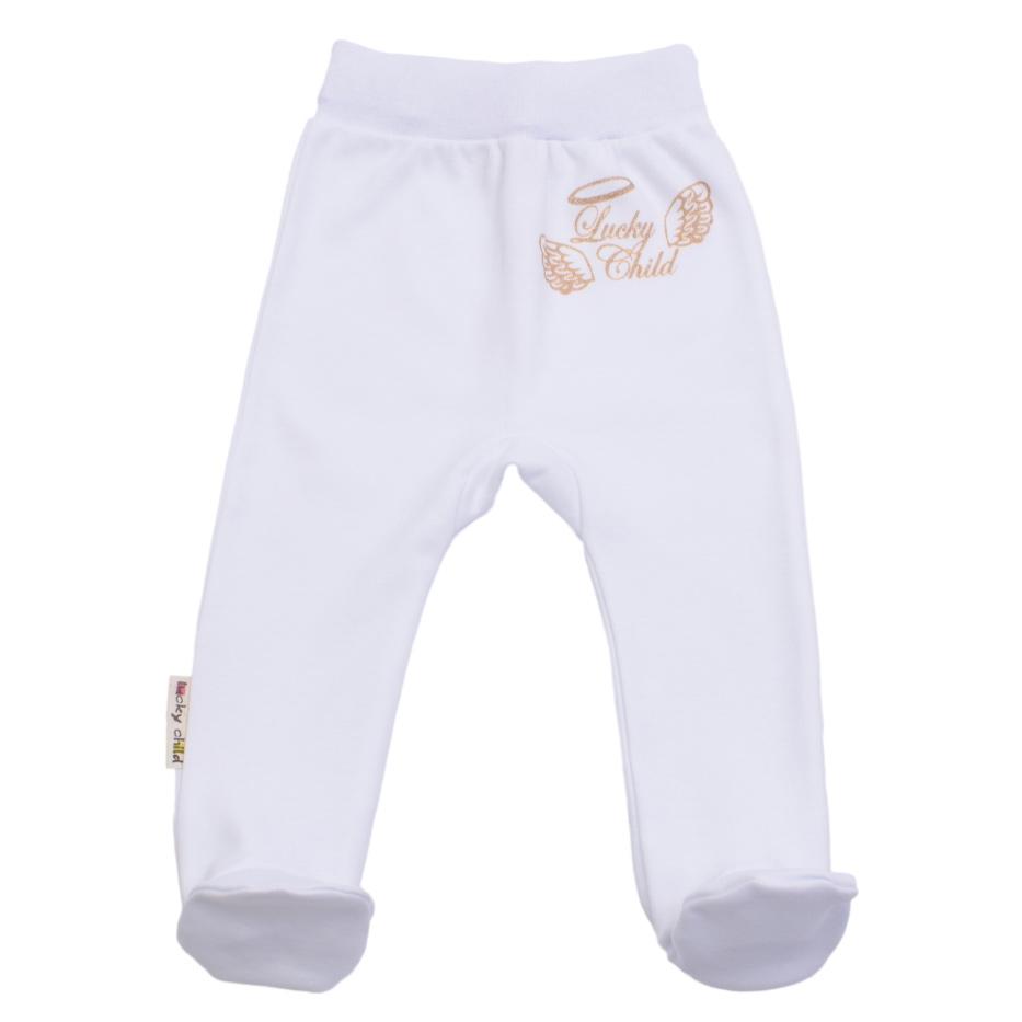 Купить Ползунки Lucky Child Ангелочки белые 74-80, Белый, Интерлок, Осень-Зима, Одежда для новорожденных