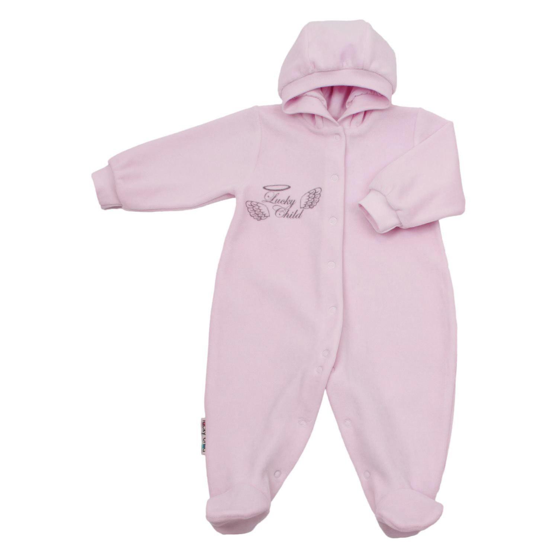 Комбинезон Lucky Child с капюшоном Ангелочки розовый 68-74